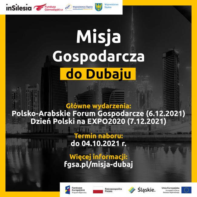 Zdjęcie do wiadomości: Zagraniczna Misja Gospodarcza do Dubaju na Polsko-Arabskie Forum Gospodarcze