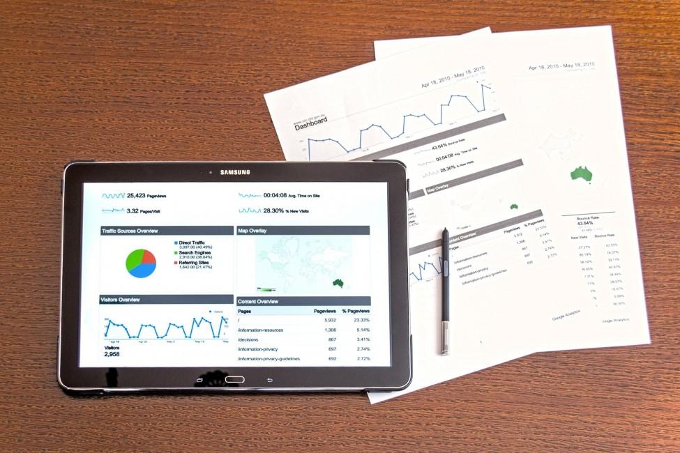 raport, analiza, tablet, wykresy