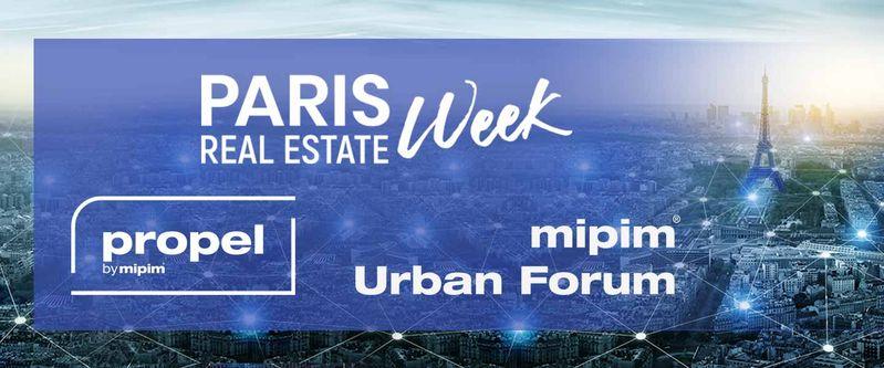 logo wydarzenia dot. forum nieruchomości w Paryżu