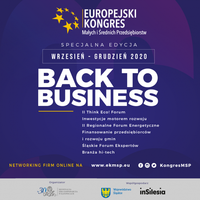 logo EKMŚP, Back to business