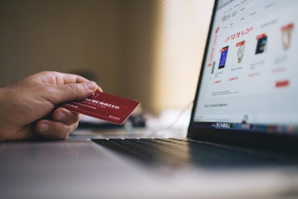 komputer, karta kredytowa