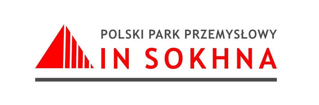 logo Polskiego Parku Przemysłowego Ain Sokhna, czerwone litery na białym tle