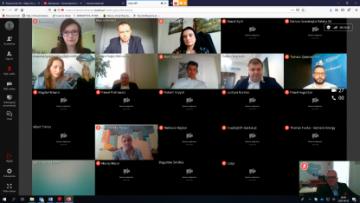 Wideokonferencja, zrzut z ekranu