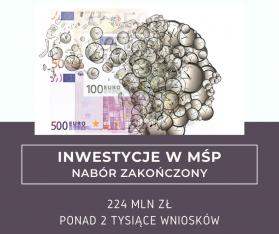 Grafika, euro, głowa i napis inwestycje w mśp