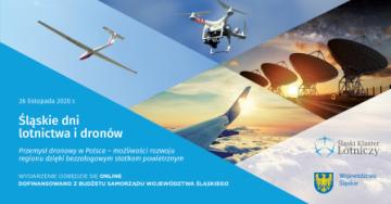 Zaproszenie na webinar, drony - dni lotnictwa