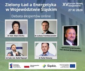 Zaproszenie na Zielony Ład, a Energetyka w Woj. Śląśkiego - debata