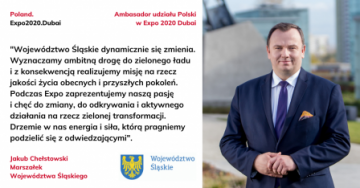 Ambasador EXPO 2020 Dubai, J.Chełstowski