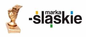 Zdjęcie przedstawia statuetkę konkursu Marka Ślaskie oraz logo